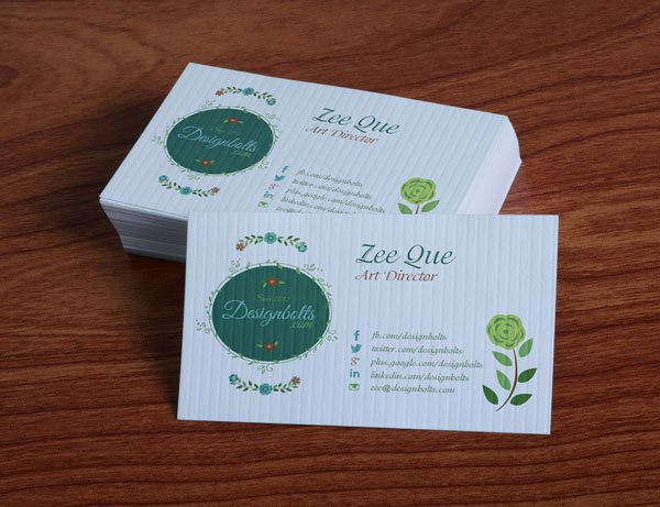 Free Floral Business Card Template PSD