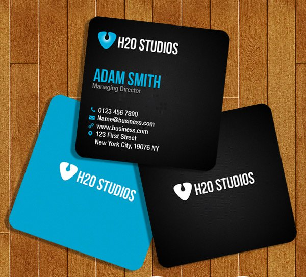 Free Mini Business Cards PSD