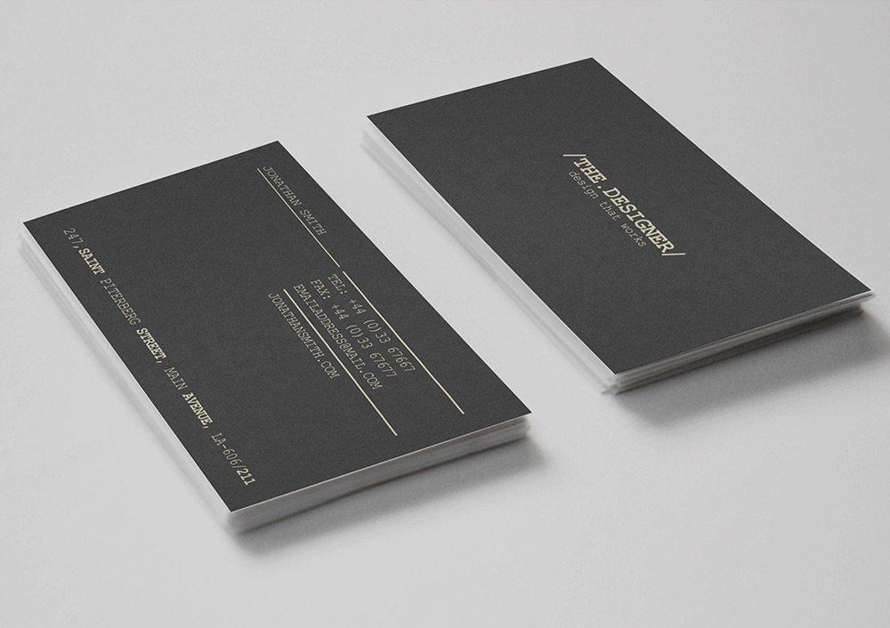 Free Minimal Business Card PSD 5