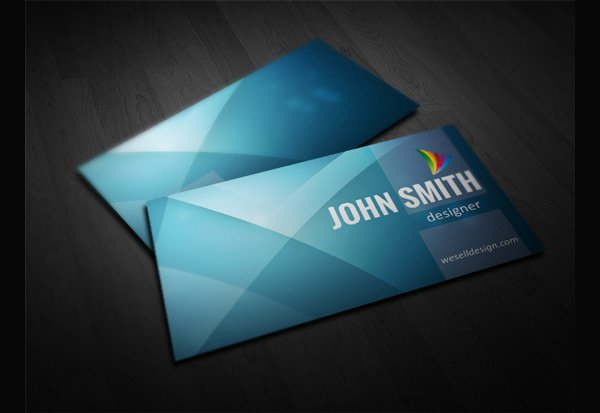 Free Minimal Business Card Template PSD 2