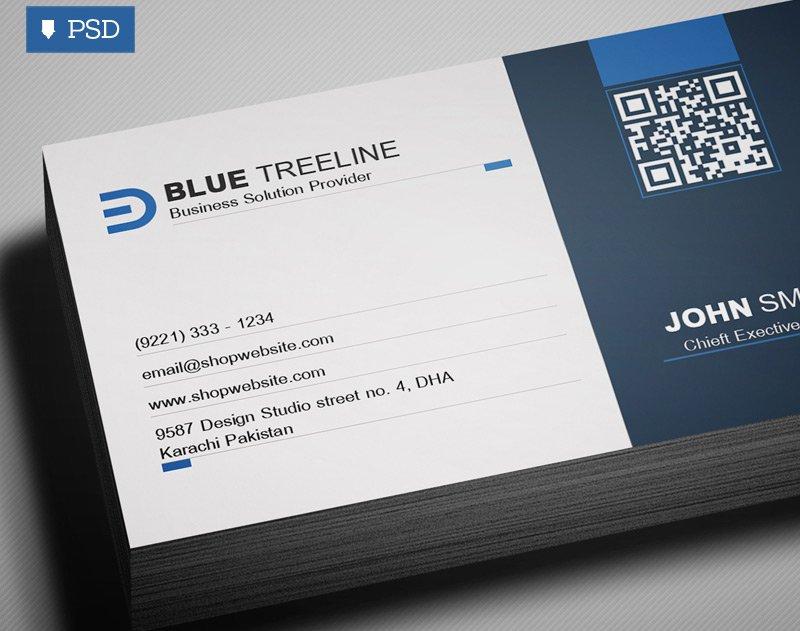 Free Modern Business Card Template PSD 2