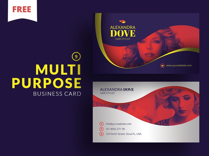 Free Multipurpose Business Card PSD