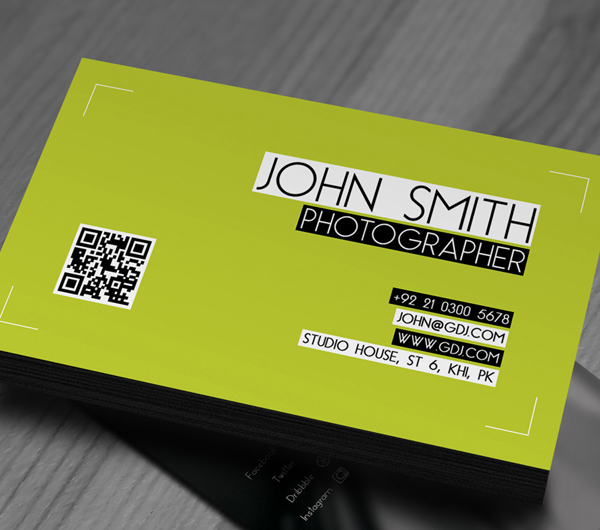 Free Photographer Business Card Template PSD 2