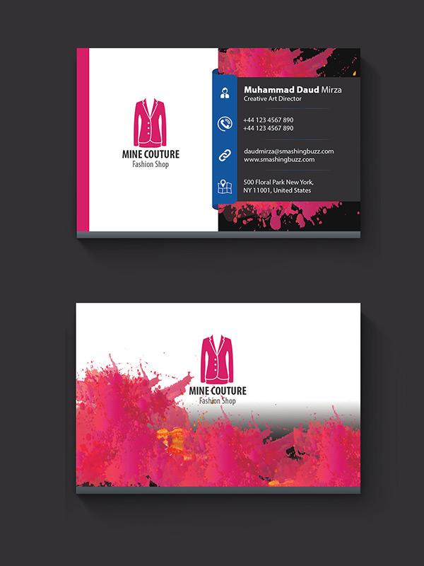 Free Stylish Business Card PSD
