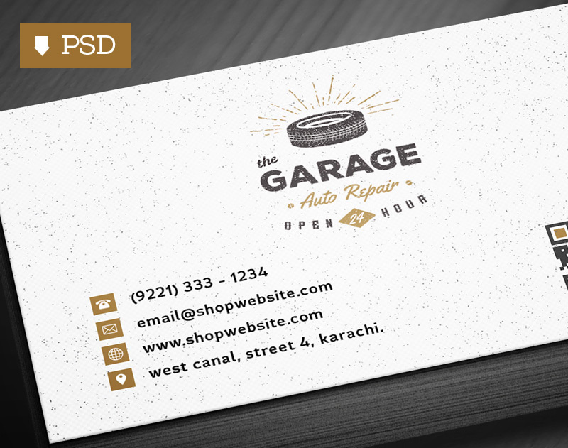 Free Vintage Business Card Template PSD 2