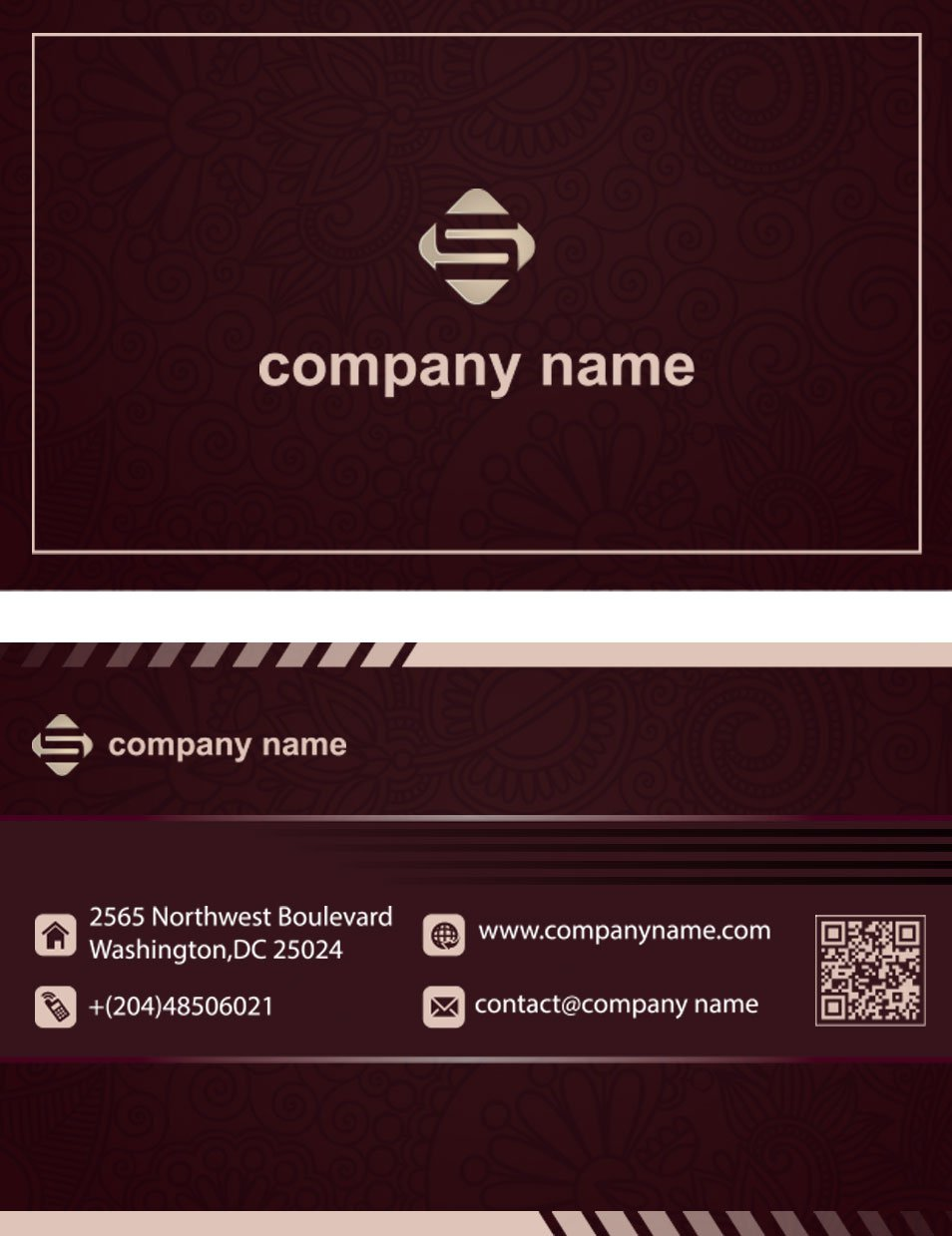 Full Color Business Card Template