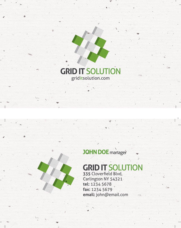 Grain Texture Business Card Template
