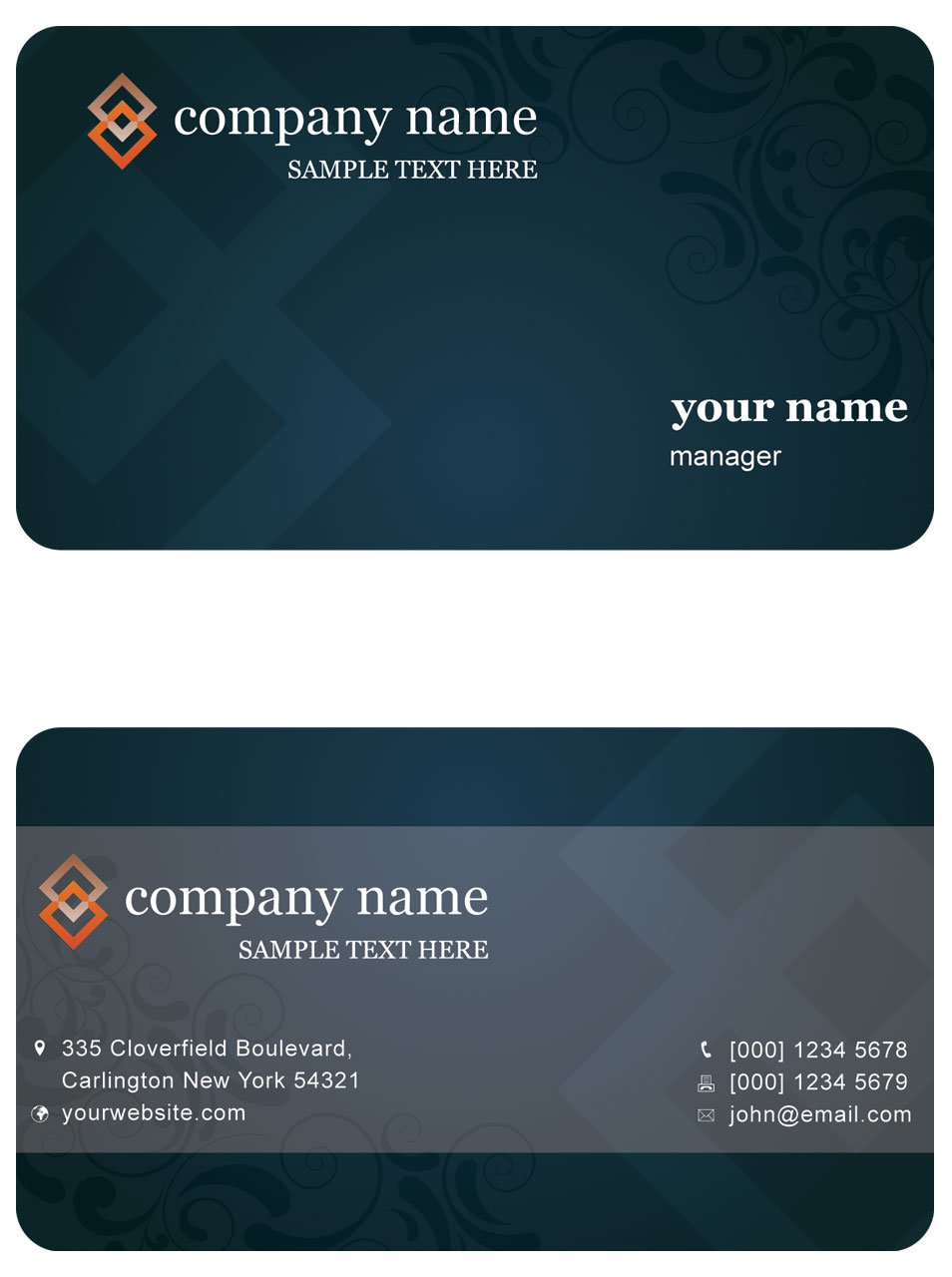 Gray Business Card Template