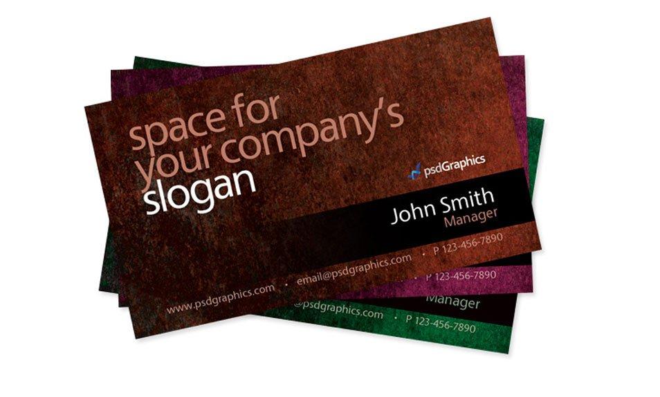 Grunge Business Card PSD
