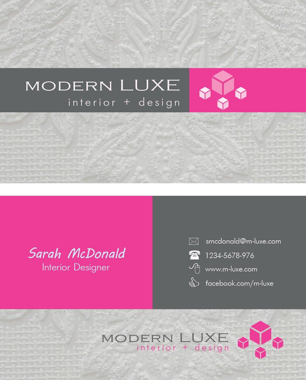 Modern Interior Designer Business Cards