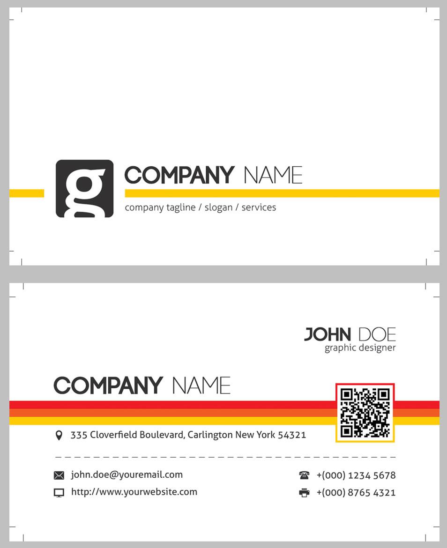 Modern QR Code Corporate Business Card Template