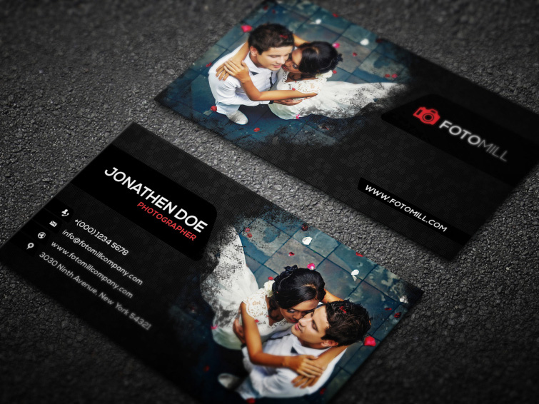 Photography Business Card Template PSD 2