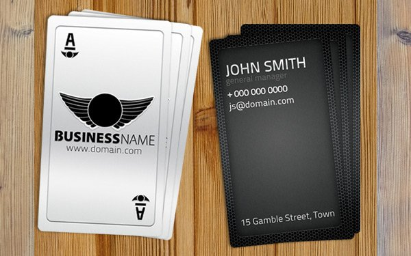 Playing Card Business Card Free Template PSD