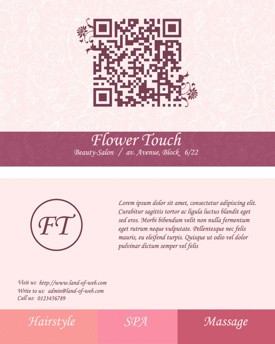 Salon Business Card PSD