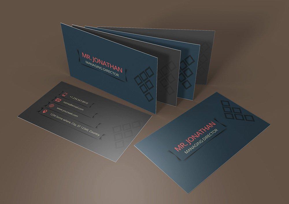 Simple Business Card PSD 4