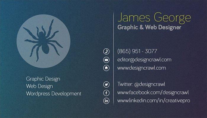 Textured Business Card Template PSD