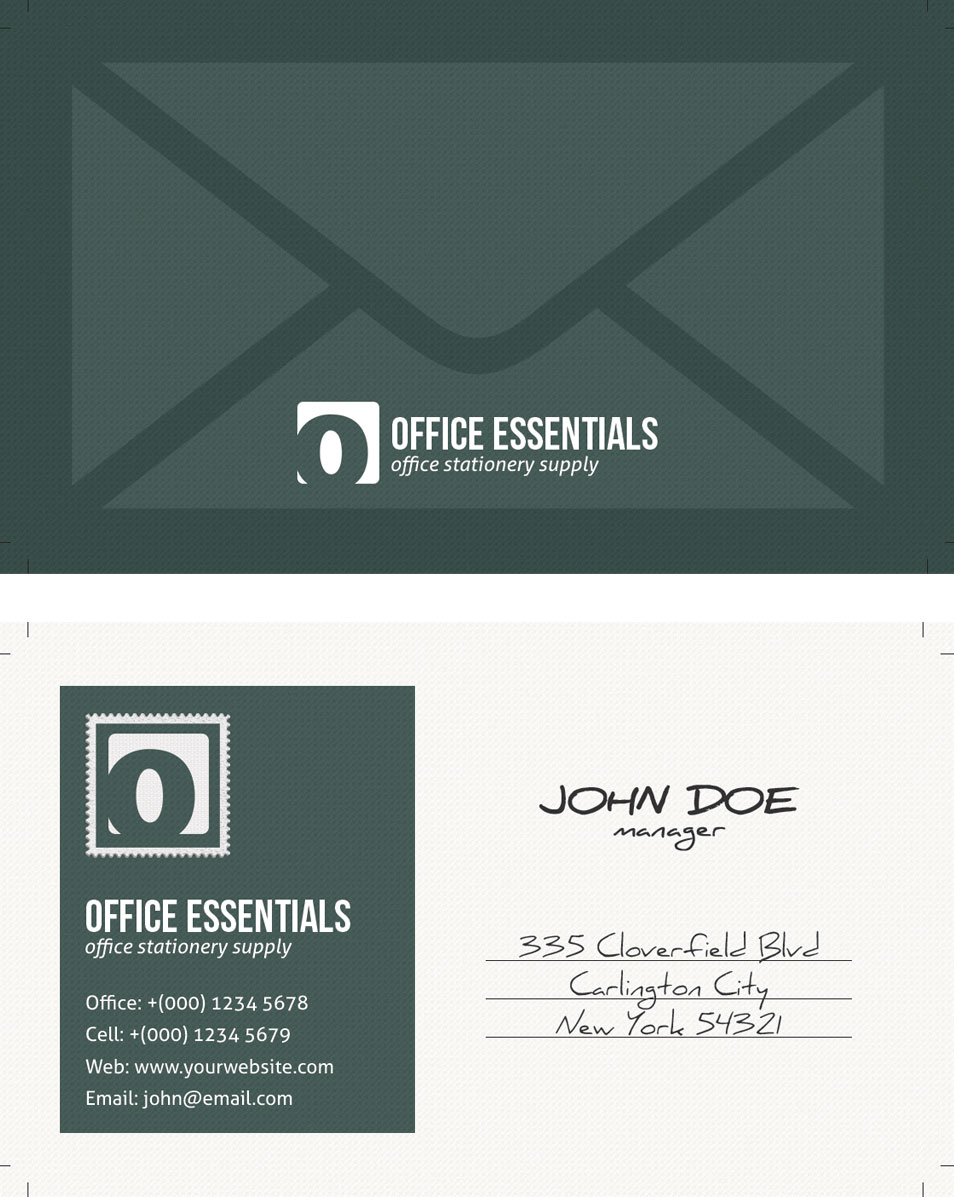 Unique Postcard Inspired Business Card Template