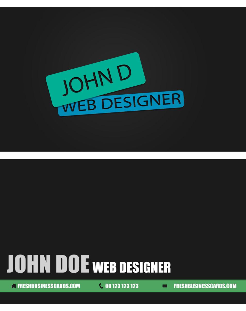 Web Design Business Card