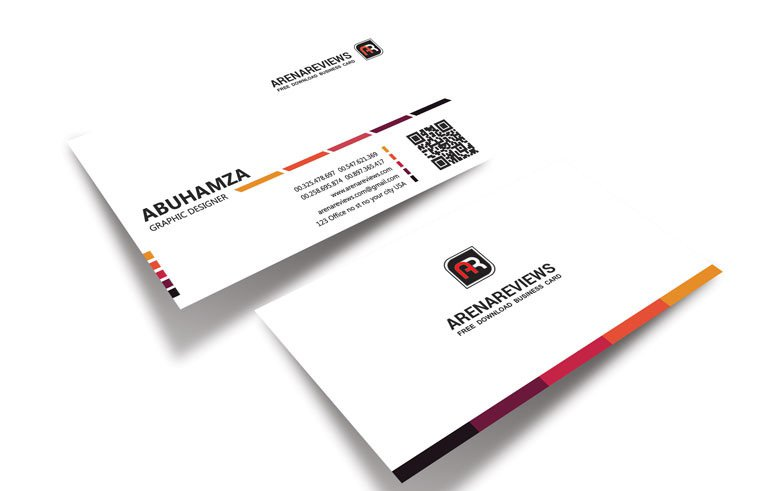 White Business Card Template PSD