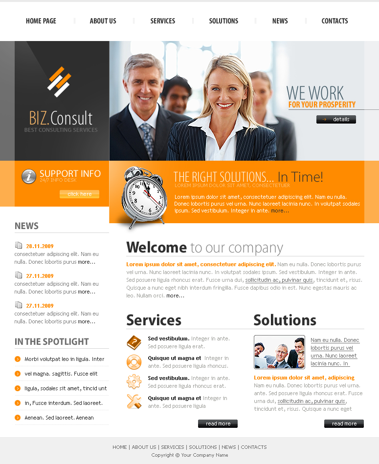 business consulting website template. Black Bedroom Furniture Sets. Home Design Ideas