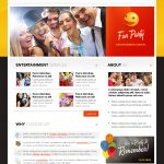 Fun Party Website Template