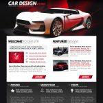 Car Design Website Template