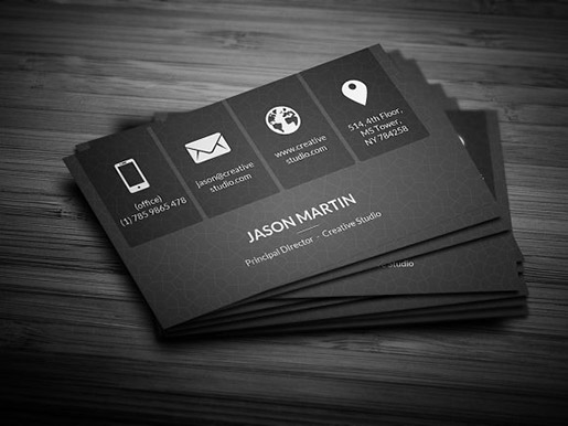 15 creative business card ideas metro dark corporate business card reheart Gallery