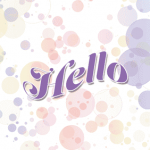 hello or missing you greeting card template