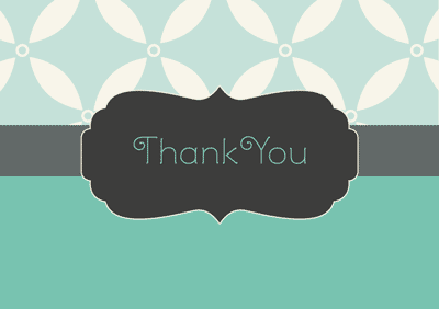 thank you greeting card template